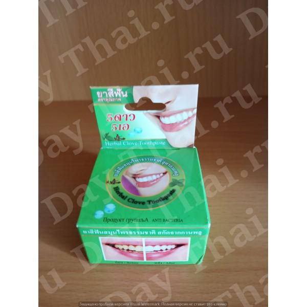Тайская натуральная зубная паста с гвоздикой и мятой
