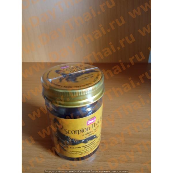 Черный Бальзам с ядом Скорпиона Scorpion Thai Balm Banna, 50 гр