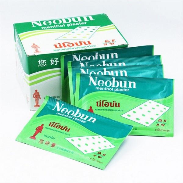 Тайский пластырь NEOBUN с анальгетиком, 10 шт в упаковке