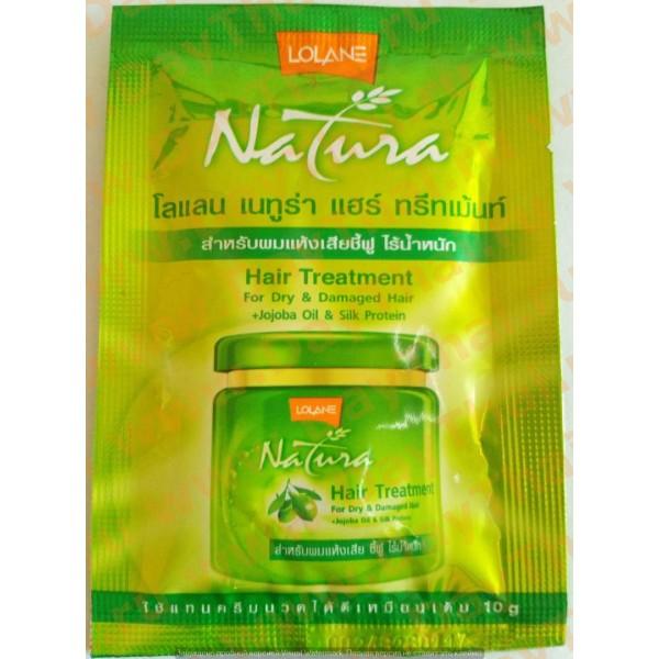 Лечебная маска для волос с маслом жожоба и шелковым протеином Lolane Natura, 10 гр