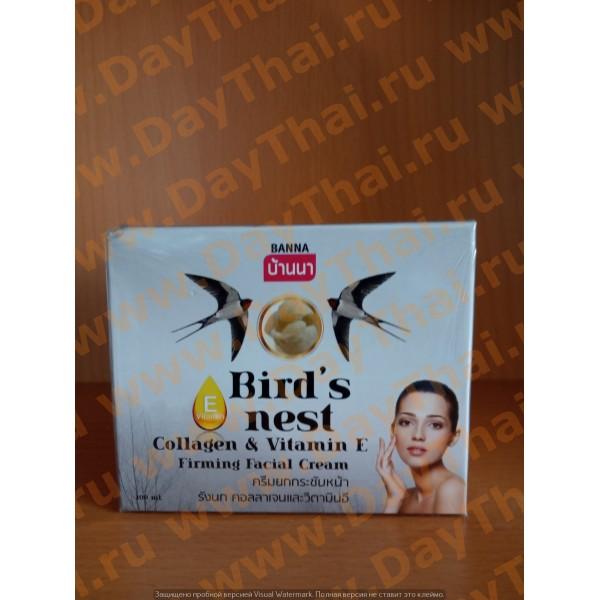 Укрепляющий Лифтинг-Крем для Лица с Экстрактом Птичьего Гнезда Коллагеном и Витамином Е - Banna, 100 мл