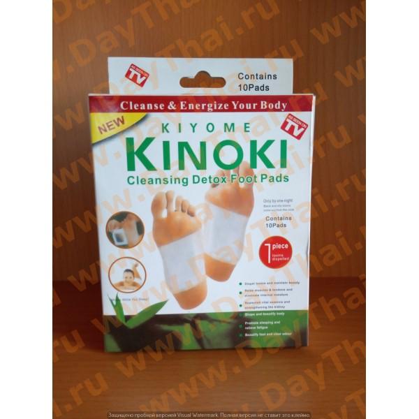 Детокс-пластыри для стоп Kinoki.  В одной упаковке 10 пластырей.