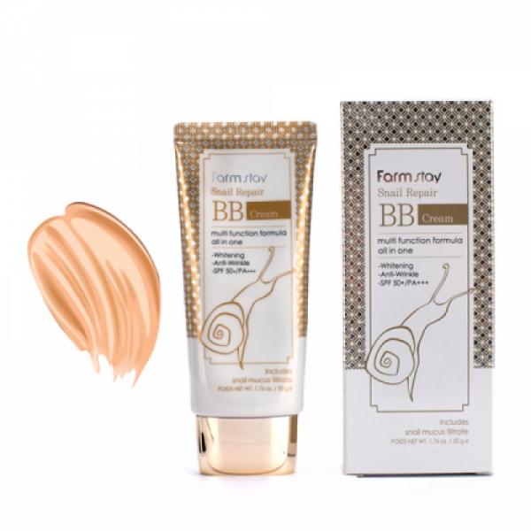 Регенерирующий ВВ крем с муцином улитки FarmStay Snail Repair BB Cream