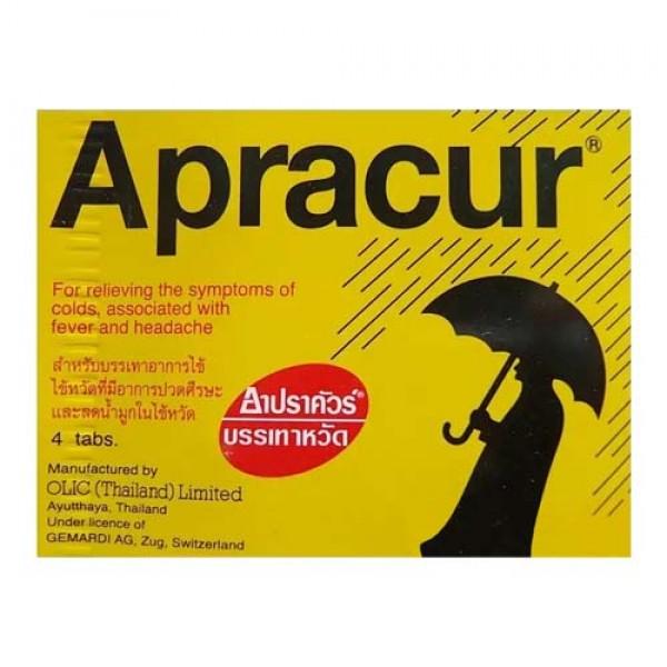 Таблетки против гриппа, простуды, насморка и температуры Apracur