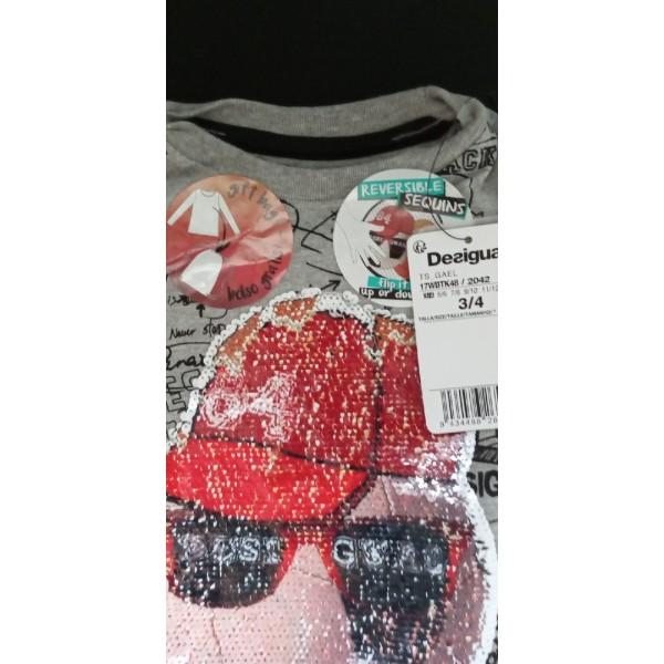 Тонковка, спереди пайетки + рюкзак, 4-5 лет