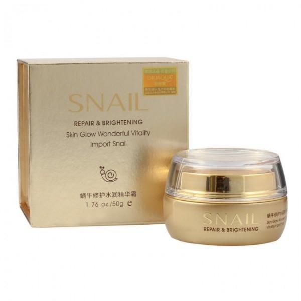 Крем для лица BioAqua Snail Repair & Brightening Cream, 50 гр